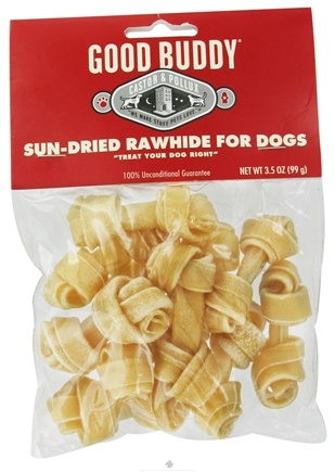 DROPPED: Castor & Pollux - Good Buddy Sun-Dried Rawhide For Dogs - 3.5 oz. Formerly Wet Nose Rawhide