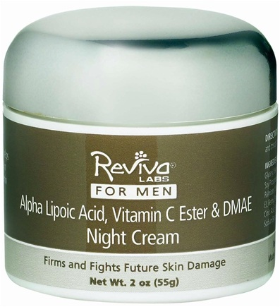 DROPPED: Reviva Labs - Men Alpha Lipoic Vitamin C Ester and DMAE Night Cream - 2 oz.