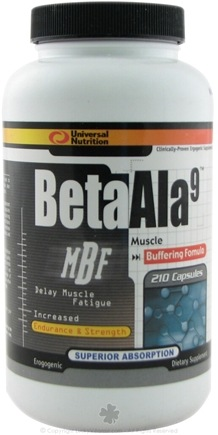 DROPPED: Universal Nutrition - Beta Ala9 Muscle Buffing Formula - 210 Capsules