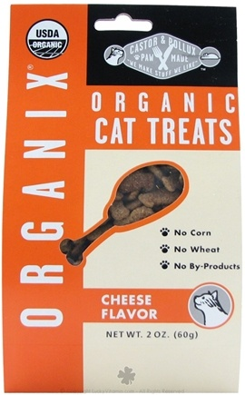DROPPED: Castor & Pollux - Organix Organic Cat Treats Cheese Flavor - 2 oz.