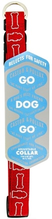 "Zoom View - Go Dog Go Adjustable Collar 1""w x 18"" - 28""l M/L/XXL"