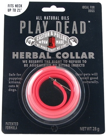 DROPPED: Castor & Pollux - Play Dead All Natural Oils Herbal Collar 21""