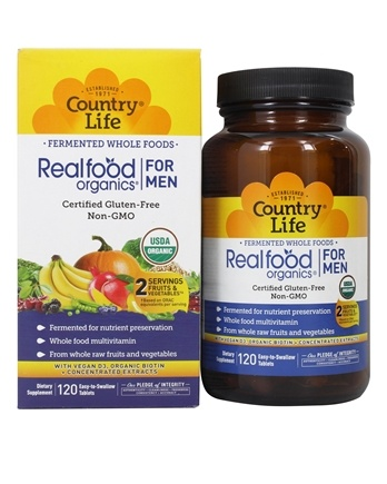 Country Life - Real Food Organics Men's Daily Nutrition - 120 Tablets