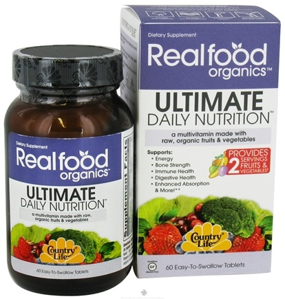 DROPPED: Country Life - Real Food Organics Ultimate Daily Nutrition - 60 Tablets CLEARANCE PRICED