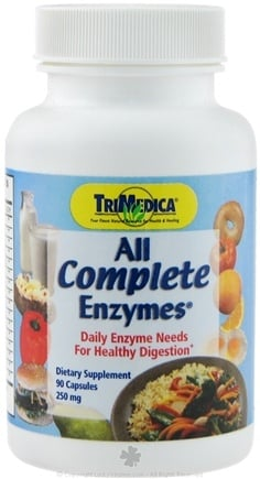 DROPPED: Trimedica - All Complete Enzymes 500mg - 90 Capsules CLEARANCE PRICED