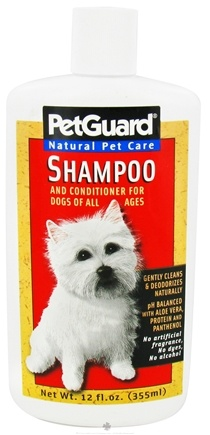 DROPPED: Pet Guard - Shampoo & Conditioner For Dogs Of All Ages - 12 oz. CLEARANCE PRICED