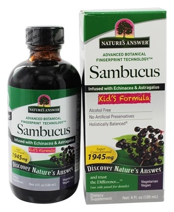 Zoom View - Sambucus Black Elder Berry Extract Kids Formula