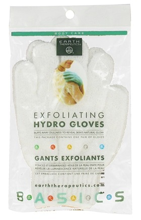 DROPPED: Earth Therapeutics - Exfoliating Hydro Gloves Assorted Color - 1 Pair CLEARANCE PRICED