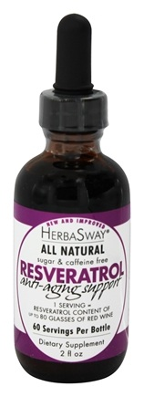 HerbaSway - Resveratrol Anti-Aging Support All Natural - 2 oz. formerly Red Wine Alternative with Resveratrol