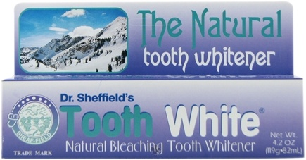 DROPPED: Sheffield Pharmaceuticals - Tooth White Natural Bleaching Tooth Whitener - 4.2 oz.