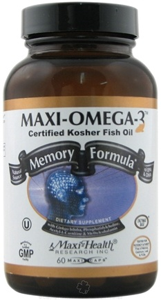 DROPPED: Maxi-Health Research Kosher Vitamins - Maxi-Omega-3 Memory Formula Certified Kosher Fish Oil - 60 Capsules