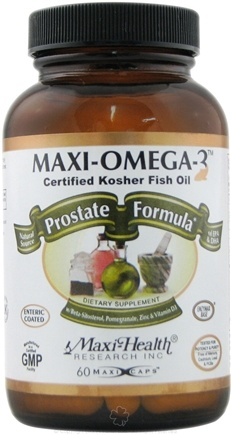 DROPPED: Maxi-Health Research Kosher Vitamins - Maxi-Omega-3 Prostate Formula Certified Kosher Fish Oil - 60 Capsules CLEARANCE PRICED