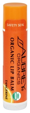 Aubrey Organics - Treat 'Em Right Organic Lip Balm Tangerine - 0.15 oz.