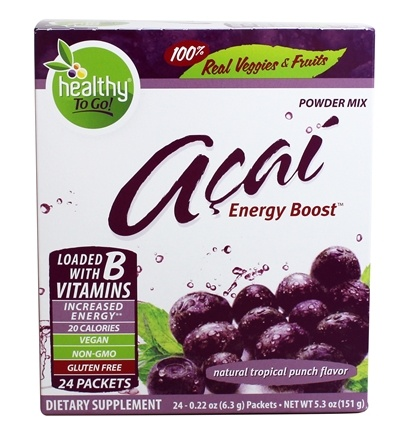 Zoom View - Healthy To Go Acai Natural Energy Boost