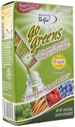 DROPPED: To Go Brands - Healthy To Go Go Greens Fruit - 6 Packet(s)