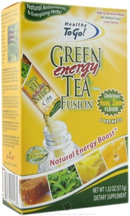 DROPPED: To Go Brands - Healthy To Go Green Tea Energy Fusion Honey Lemon - 6 Packet(s) CLEARANCE PRICED