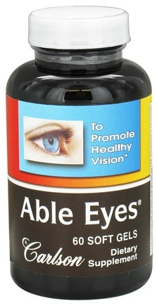 DROPPED: Carlson Labs - Able Eyes Healthy Vision - 60 Softgels