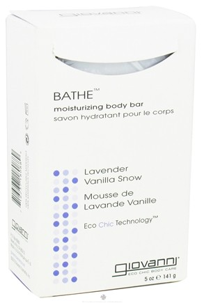 DROPPED: Giovanni - Bathe Moisturizing Body Bar Soap Lavender Vanilla Snow - 5 oz.