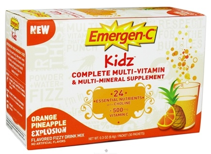 DROPPED: Alacer - Emergen-C Kidz Multi-Vitamin Orange Pineapple Explosion - 30 Packet(s)