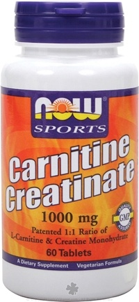 DROPPED: NOW Foods - Carnitine Creatinate - 60 Tablets