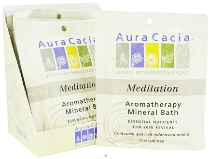 DROPPED: Aura Cacia - Aromatherapy Mineral Bath Meditation - 2.5 oz. CLEARANCE PRICED