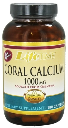 DROPPED: LifeTime Vitamins - Coral Calcium 1000 mg. - 180 Capsules CLEARANCE PRICED