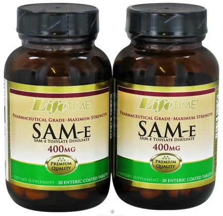 DROPPED: LifeTime Vitamins - SAM-e (20+20) Twin Pack 400 mg. - 40 Enteric-Coated Tablets