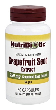 Nutribiotic - Maximum Strength Grapefruit Seed Extract 250 mg. - 60 Capsules