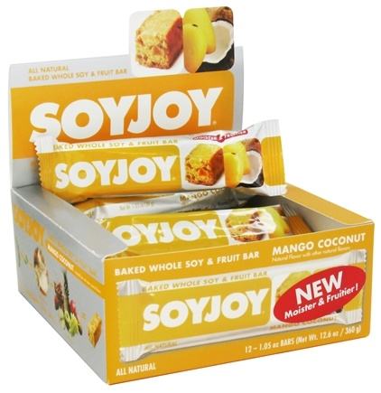 DROPPED: SoyJoy - All Natural Baked Whole Soy & Fruit Bar Mango Coconut - 1.05 oz.