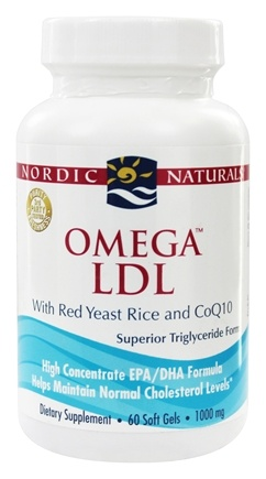 Nordic Naturals - Omega LDL with Red Yeast Rice and CoQ10 1000 mg. - 60 Softgels
