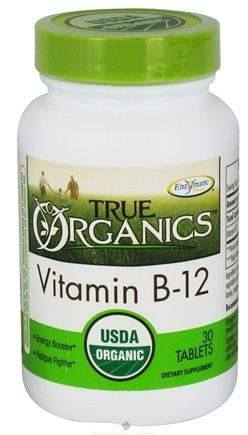 DROPPED: Enzymatic Therapy - True Organics Vitamin B12 - 30 Tablets CLEARANCE PRICED