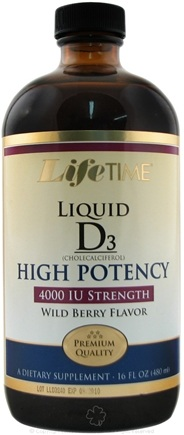 DROPPED: LifeTime Vitamins - Liquid D3 High Potency Wild Berry 4000 IU - 16 oz.