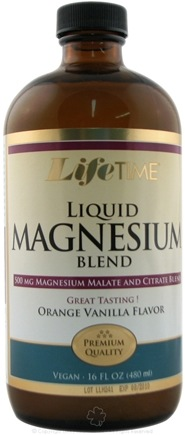 DROPPED: LifeTime Vitamins - Liquid Magnesium Blend Orange Vanilla - 16 oz.