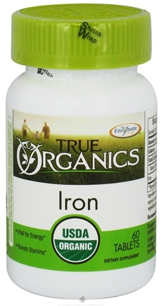 DROPPED: Enzymatic Therapy - True Organics Iron - 60 Tablets CLEARANCE PRICED