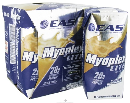 DROPPED: EAS - Myoplex Lite RTD 20g Protein Shake French Vanilla - 4 Pack
