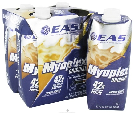 DROPPED: EAS - Myoplex Original RTD 42g Protein Shake French Vanilla - 4 Pack CLEARANCE PRICED