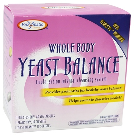 DROPPED: Enzymatic Therapy - Whole Body Yeast Balance Kit Triple-Action Internal Cleansing System