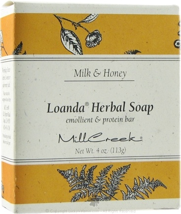 DROPPED: Mill Creek Botanicals - Loanda Herbal Soap Emollient & Protein Bar Milk & Honey - 4 oz. CLEARANCE PRICED