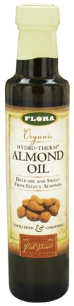 DROPPED: Flora - Organic Hydro-Therm Almond Oil - 8.5 oz. CLEARANCE PRICED