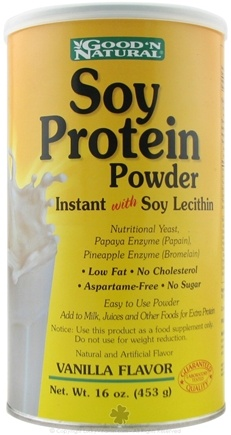 DROPPED: Good 'N Natural - Soy Protein Instant Powder with Lecitihin - 16 oz. CLEARANCE PRICED