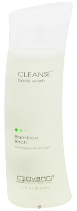 DROPPED: Giovanni - Cleanse Body Wash Travel Size Bamboo Birch - 2 oz. CLEARANCE PRICED