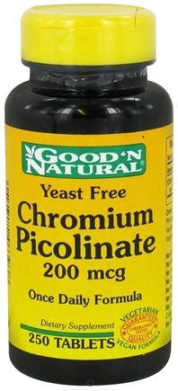 DROPPED: Good 'N Natural - Chromium Picolinate 200 mcg. - 250 Tablets CLEARANCE PRICED