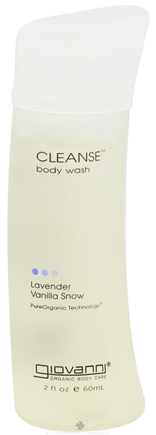 DROPPED: Giovanni - Cleanse Body Wash Travel Size Lavender Vanilla Snow - 2 oz. CLEARANCE PRICED