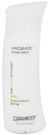 DROPPED: Giovanni - Hydrate Body Lotion Travel Size Cucumber Song - 2 oz. CLEARANCE PRICED