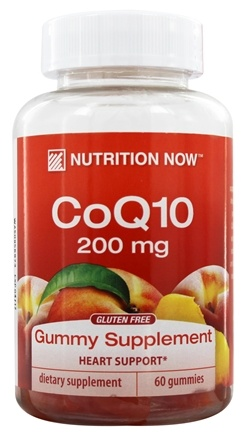 Nutrition Now - CoQ10 Gummy Vitamins for Adults Peach - 60 Gummies