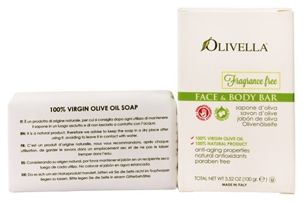 Olivella - Virgin Olive Oil Fragrance Free Bar Soap - 3.52 oz.