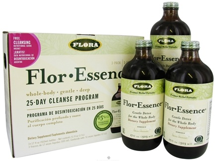 DROPPED: Flora - Flor Essence 25-Day Cleanse Program 3 Pack - 51 oz. CLEARANCE PRICED