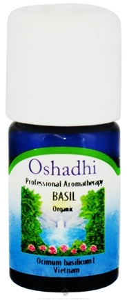 DROPPED: Oshadhi - Professional Aromatherapy Basil Organic Essential Oil - 10 ml. CLEARANCE PRICED