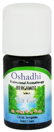 DROPPED: Oshadhi - Professional Aromatherapy Bergamot Select Essential Oil - 5 ml. CLEARANCE PRICED