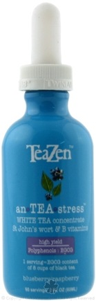 DROPPED: TeaZen - An TEA Stress White Tea Concentrate Blueberry/Raspberry - 2 oz.
